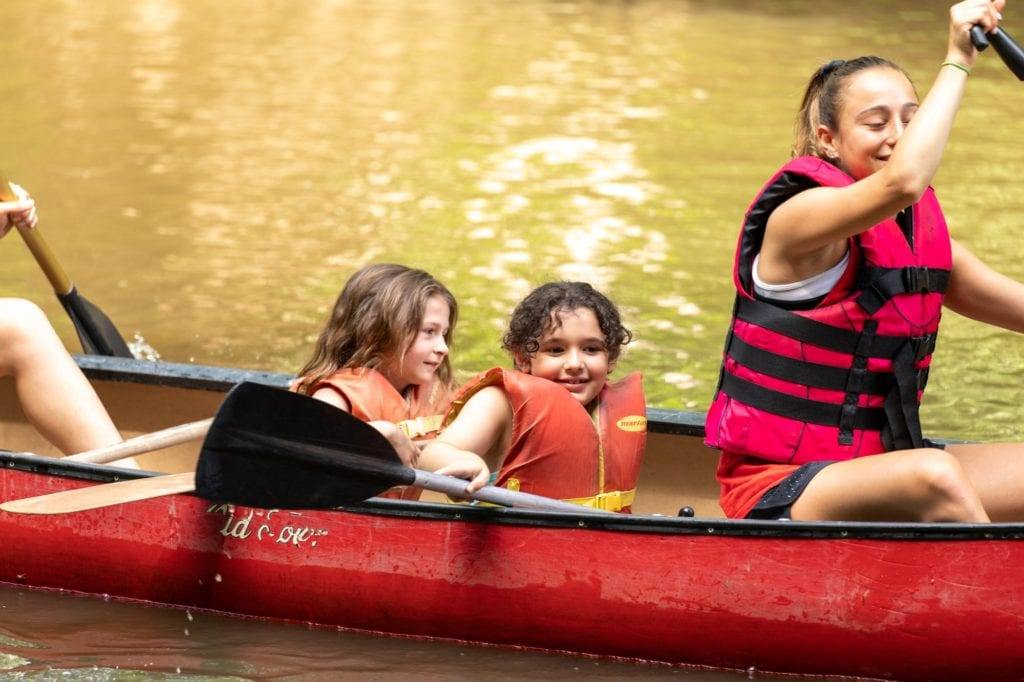 camp riverbend canoeing